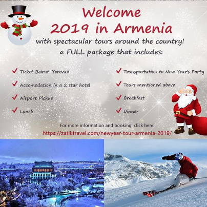 New Year 2019 in Armenia