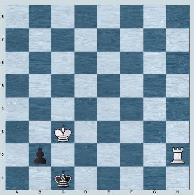 Rook vs b-pawn on 7th rank