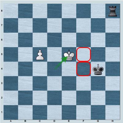 Shouldering in rook vs pawn with 1.Ke5!