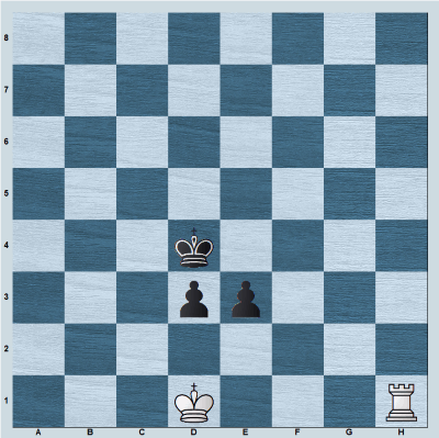 Position with rook vs connected pawns when the king is near