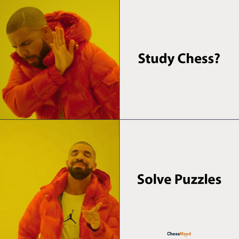 chess meme about solving puzzles by ChessMood