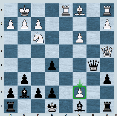 Position from my blitz game against GM Naroditsky