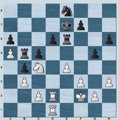 Vishwanathan Anand's game where he sacrifices a pawn with e5 to open the d-line