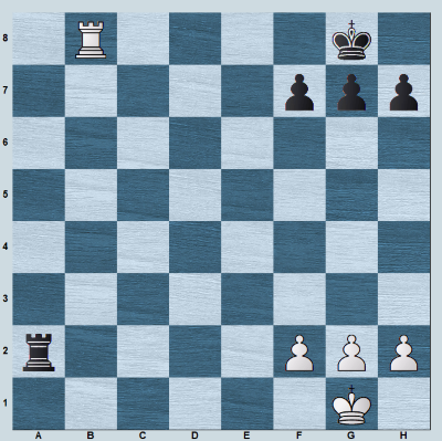 A back rank checkmate position