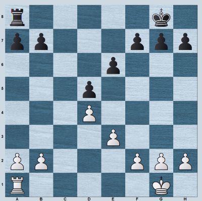 Open c-file in symmetrical rook endgame