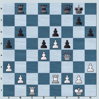 A major piece endgame with 2 rooks and queen for each side