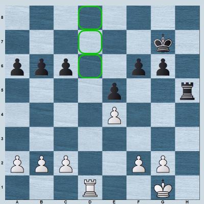 White's rook has 3 entry squares - d6, d7, d8
