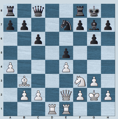 A middlegame position with an open d-file